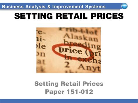 setting retail prices