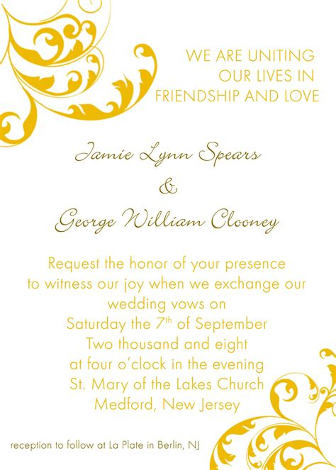 template for wedding invitations wedding invitation ideas template wording invitation