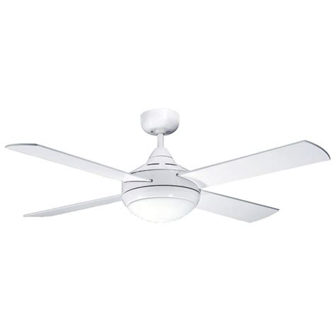 primo 48 quot 120cm white ceiling fan w light lakes