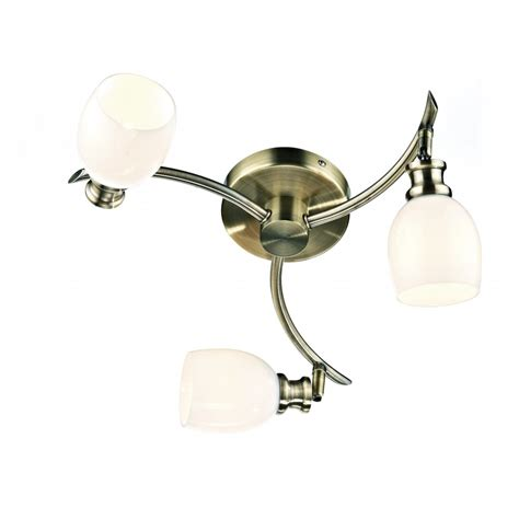 Modern Antique Brass Ceiling Lights Contemporary Brass Flush Ceiling Light 3 Light For Modern Settings