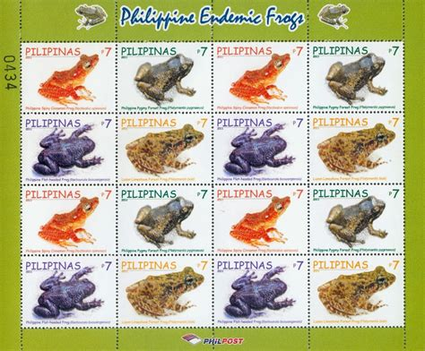 my philately endemic frogs from philippine