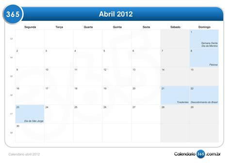 Calendario Abril 2012 Calend 225 Abril 2012