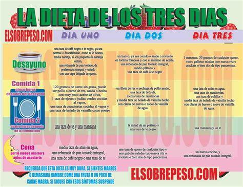 Dieta Detox 3 Dias Menu by Efectiva La Dieta De Los 3 Dias Baja Hasta 5 Kilos