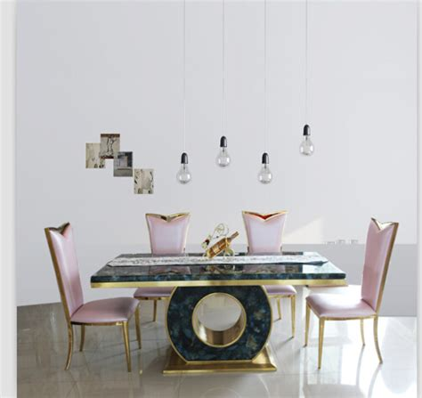 Marble Dining Table Set Manufacturers Aliexpress Buy Dining Table Set With Quality Marble Dining Table Black Gold