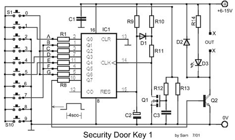 Lu Emergency Cmos security lock door security electronic key combination lock electronic circuits free