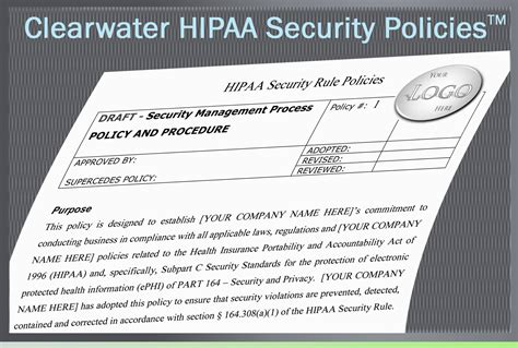 hipaa hitech policy templates clearwater hipaa security policies procedures toolkit