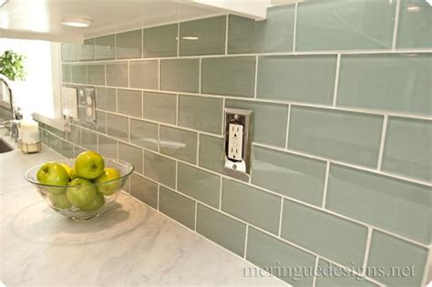 glass subway tile 3x6 backsplash tile ideas subway tile colors home 3x6 glass tile by dal tile in whisper green and carrera
