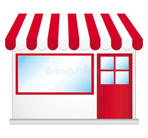 Awnings For Business Cute Shop Icon Stock Vector Illustration Of Butcher