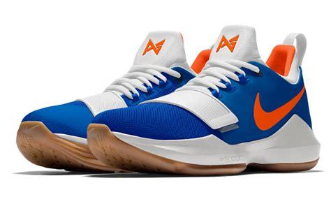 okc thunder basketball shoes nikeid pg 1 okc thunder colors sneakerfiles