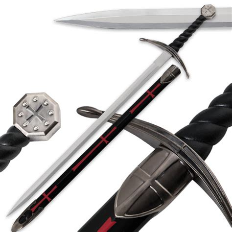 Top Home Decor Brands One Hand Knight S Templar Sword 39 In Overall True Swords
