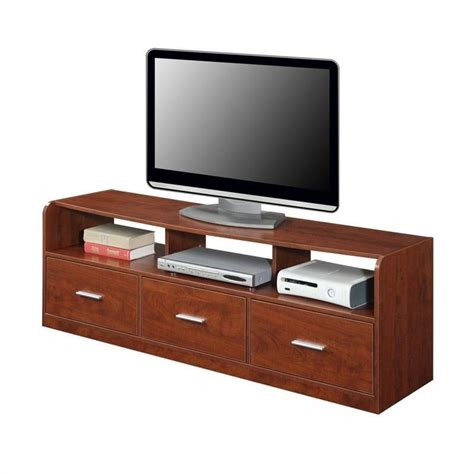 60 Tv Stand With Drawer by 60 Quot 3 Drawer Tribeca Tv Stand In Cherry 151311ch