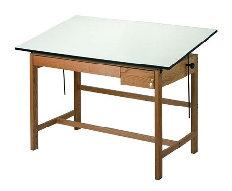 Drafting Table With Drawers Alvin Drafting Table Titan 2 Wood Table 37 5 By 72 W Drawers