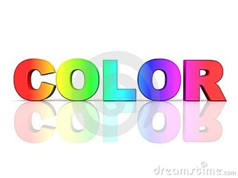 what time is world of color the word color in rainbow colors stock photos image
