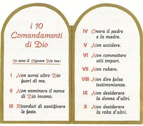 tavole comandamenti i 10 comandamenti cercare la fede