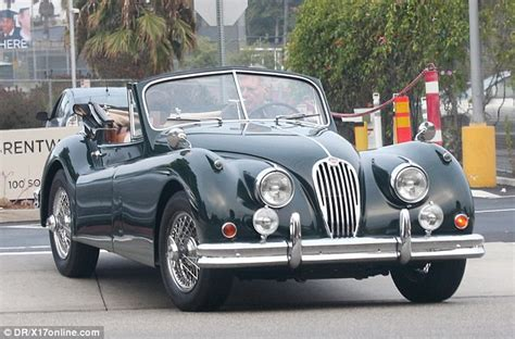 harrison ford vehicles harrison ford hits the road in his vintage 1955 jaguar