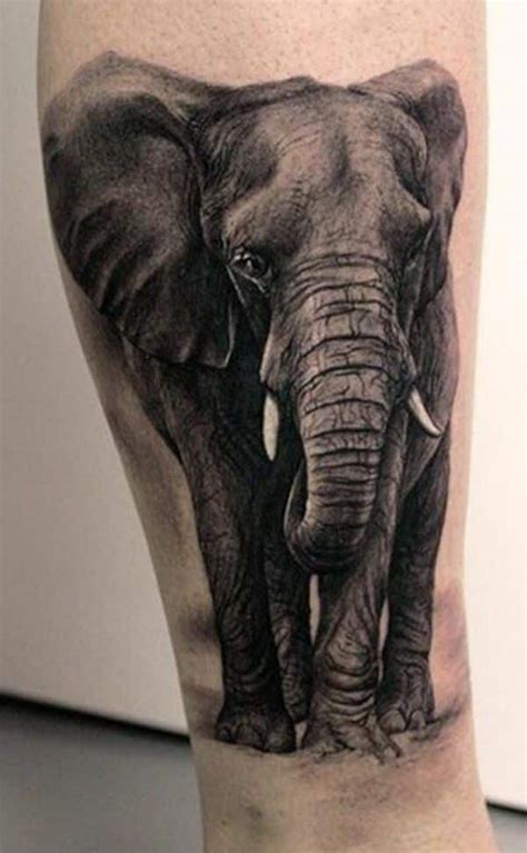 tattoo black and grey animal elephant tattoos for men ideas for guys and image gallery