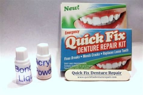 fix denture repair kit emergency broken partial