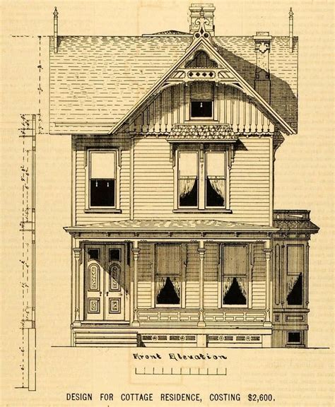 1879 print victorian house architectural design floor 1878 prints cottage architectural design floor plan