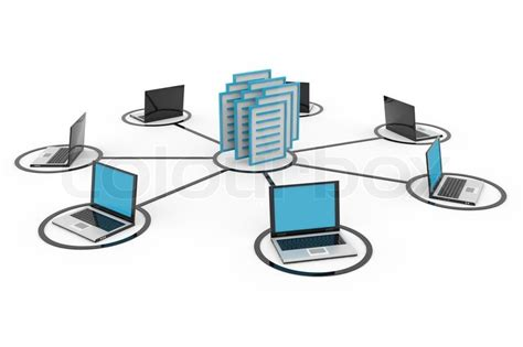Best Free Search Database Abstract Computer Network With Laptops And Archive Or Database Stock Photo Colourbox