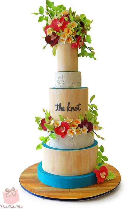 Tropical Themed Cake for The Knot! » Wedding Cakes