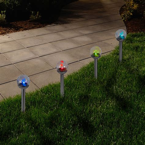 solar xmas lights kmart pure garden color changing glass globe outdoor solar