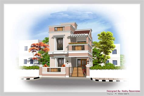 Duplex House Plans With Elevation Duplex House Plan With Elevation