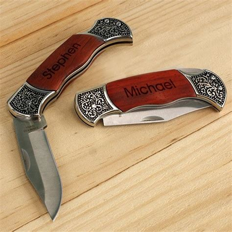 engraved knives for gifts engraved rosewood decogrip knife giftsforyounow