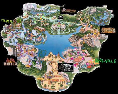 theme park wiki image halloween map png universal studios theme park