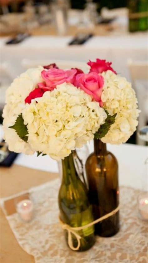 beautiful wine bottle centerpiece wedding pinterest