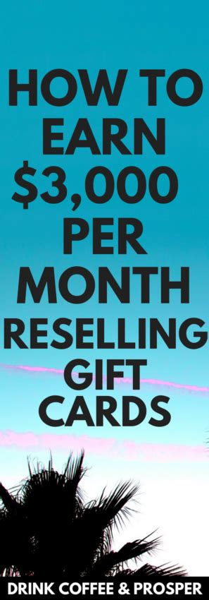 Reselling Gift Cards - how to make 3 000 month reselling gift cards drink coffee and prosper