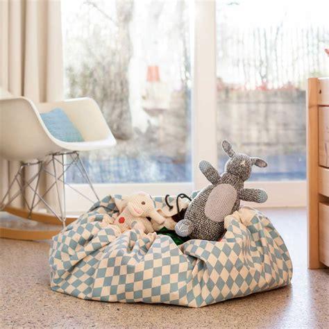 play and go spielzeugsack spielzeugsack und decke rauten blau play and go spiele und