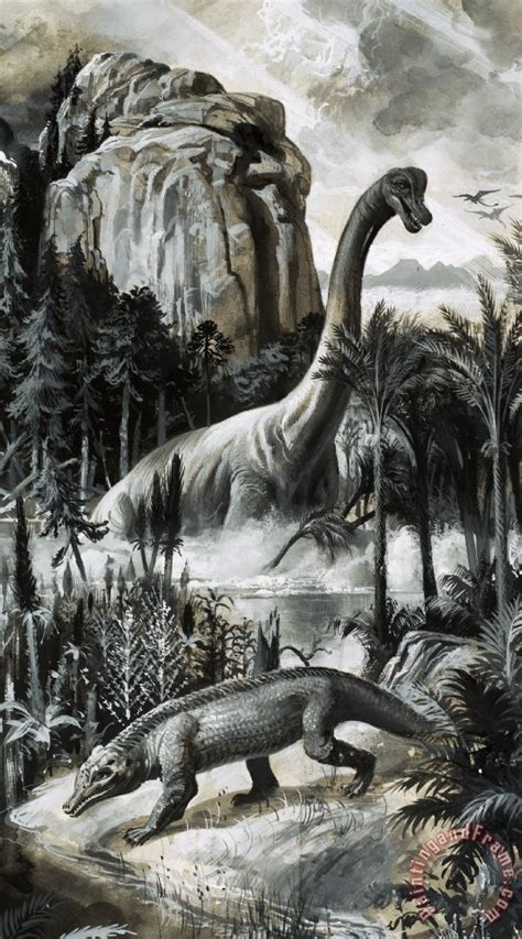 painting dinosaurs roger payne dinosaurs painting dinosaurs print for sale