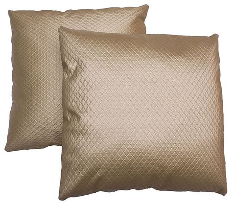 decorative bed pillow sets 18 inch gold patterned decorative pillows set of 2