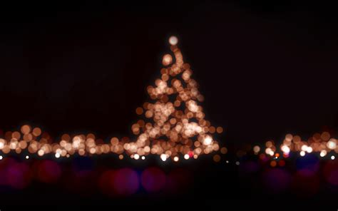 ah christmas lights bokeh love dark night papersco