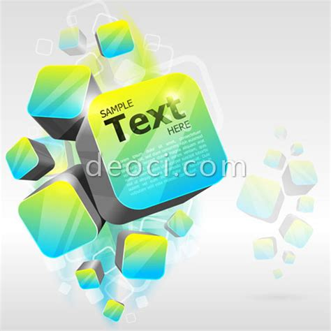3d vector cube abstract background design template eps