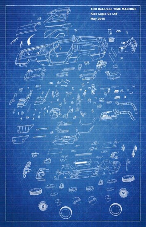 delorean blueprint delorean time machine blueprints www imgkid the