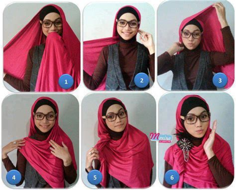tutorial hijab pashmina simple bahan licin tutorial hijab simple pashmina untuk sehari hari