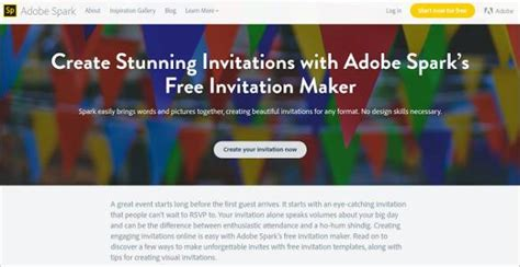 Top Best 12 Online Invitation Makers Tools To Make Your Invite Worth An Appeal Free Adobe Spark Templates