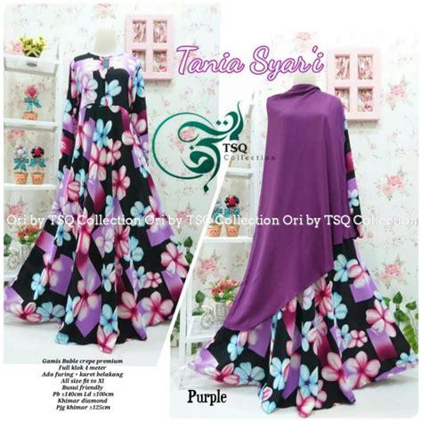 Gamis Cantik Purple gamis cantik tania crepe baju muslim syar i terbaru