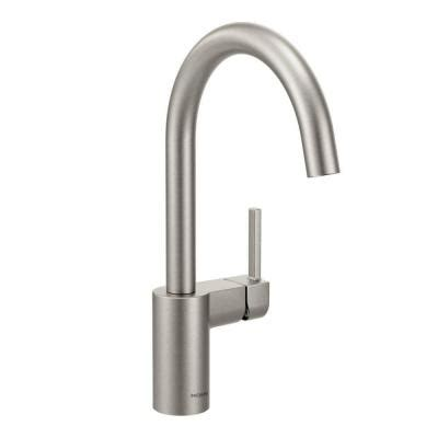 moen kitchen faucets home depot moen align single handle standard kitchen faucet in spot resist stainless 7365srs the home depot