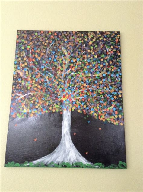 acrylic painting project ideas things to paint finger painting trees