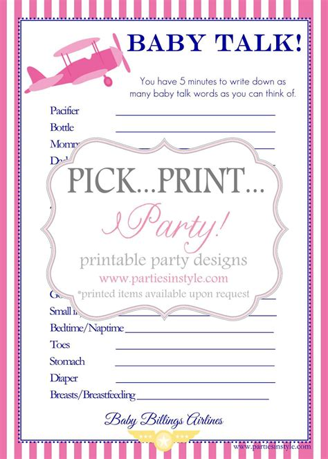 printable baby shower games new calendar template site