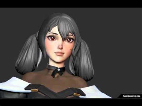 guiltygear dizzy 3d hair sculpting youtube