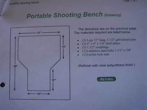 shooting bench dimensions does anyone have plans for a shooting bench the firearms forum the buying