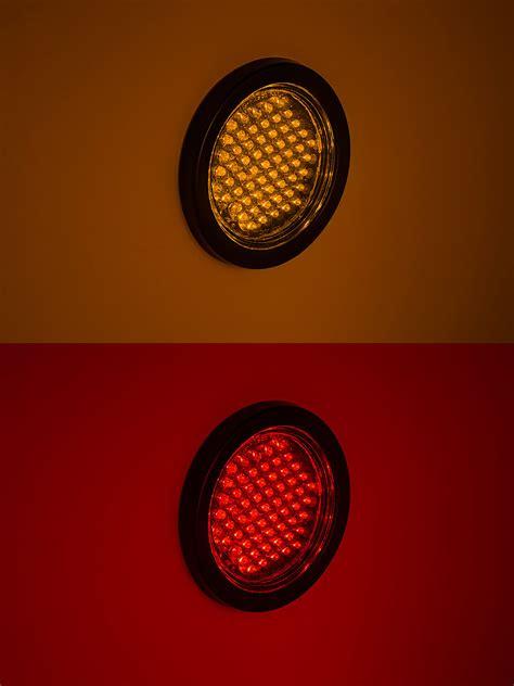 weldon led tail lights round led truck trailer lights 4 quot led brake turn tail