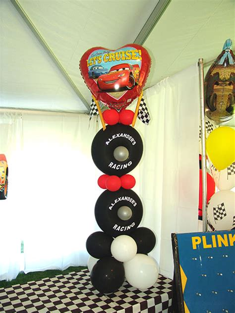 balloon decoration cars theme birthday balloons in denver