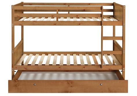 Single Loft Bed Frame Detachable Single Bunk Bed Frame With Storage Pine