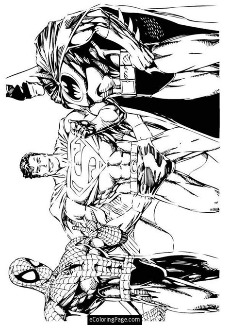 crayola coloring pages batman superheroes spiderman superman and batman coloring page