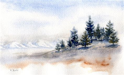 watercolor tutorial winter winter watercolor painting painting by karla beatty