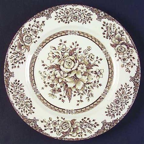 brown pattern dinnerware english ironstone kew gardens brown at replacements ltd